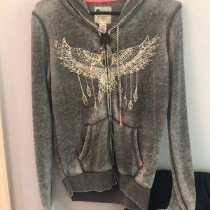 Billabong sweater jacket, grey, small